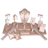 Jewelry Showcase 18-Piece Set Steel Pink