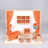 Jewelry Display 10-Piece Mini Furniture Set Orange