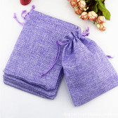 "100 Burlap Drawstring Bag Gift Pouch 2 3/4"" x 3 1/2"" Purple"