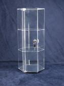 Hexagon Acrylic Showcase 3 shelves WITH LOCK