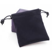 """Velvet Bag Gift Pouch 4"""" x 5.5"""" (10*14cm) Black"""