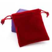 """Velvet Bag Gift Pouch 4"""" X 5 1/2"""" Red"""