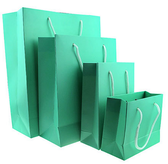 "20 Gift Shopping Tote Bag Teal Blue 8 x 3.5 x 10"""
