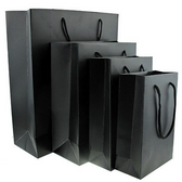 20 Gift Shopping Tote Bag Black 4.5 x 2.75 x 6""