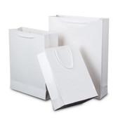 "50 Gift Shopping Tote Bag 6x2.5x8"" (15*6*20cm) White"