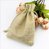 "100 Burlap Drawstring Bag Gift Pouch 2 3/4"" x 3 1/2"" Beige"