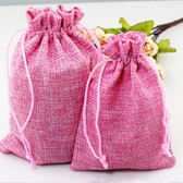 "100 Burlap Drawstring Bag Gift Pouch 2 3/4"" x 3 1/2"" Pink"