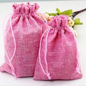 "100 Burlap Drawstring Bag Gift Pouch 2 3/4"" x 3 1/2"" Pink"