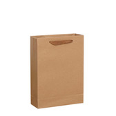 50 Kraft Paper Shopper Shopping  Bag 6.25x2.5x8.25""