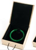 Burlap Bangle Bracelet Jewelry Box