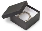 "Jewelry Bangle Watch Box 3 5/8x 3 5/8"" x 2"" Black Linen"