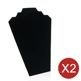 "2 Necklace Easel Display 12.5""H Black Velvet"