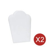 "2 Pendant Easel Display 5"" H White Leather"