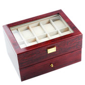 Deluxe 20-Watch Rosewood Display Case