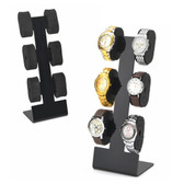 Acrylic 6-Watch Pillow Display Stand Black