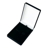 Flocked Velour 5-Clip Jewelry Box Black