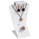 Necklace Earring Ring Combo Set Display White