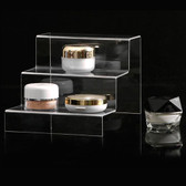 Acrylic 3-Tier Cosmetic Display Stand