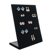 Upright 30-Pair Earring Display Panel Black Velvet