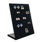 Upright 30-Pair Earring Display Panel Black Velvet