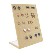 Burlap Upright 30-Pair Earring Display Panel