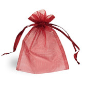 100 Organza Jewelry Bag Gift Pouch Burgundy 3X4""