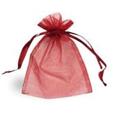 "100 Organza Jewelry Bag Gift Pouch Burgundy 3X4"""