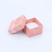 24 Ribbon Bow-Tie Ring Box Pink