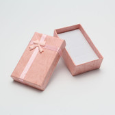 "16 Bow-Tie Pendant Earring Ring Box 2"" x 3"" x 1""H Pink"