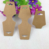 200 Necklace Bracelet Hanging Card Large Kraft