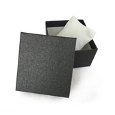 "10 Watch Bangle Box with Pillow 3.5"" x 3.5"" x 2""H Charcoal"