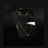 "Acrylic Necklace + Earring Set Display 8.5""H Black"