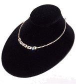 "Padded Neck Bust 3""H Necklace Display Oval Low Profile Black Velvet"