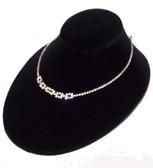 "Padded Neck Bust 3""H Necklace Display Oval Low Profile Black Velvet"