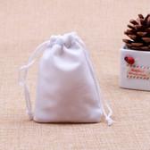 """100 Velvet Bag Gift Pouch 2 3/4"""" X 3 1/2"""" White"""