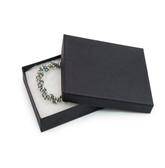 "100 Jewelry Gift Box 3 3/4"" x 3 3/4"" x 1"" (Cotton-Filled) Black Matte"