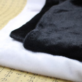 """Fur Throw Counter Liner Tablecloth Photo Props 20"""" X 40"""" Black"""