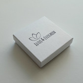 "Custom Print Box 3 3/4""x3 3/4""x1"" (Cotton-Filled)"