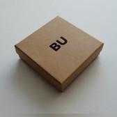 """Custom Print Box 3 3/4""""x3 3/4""""x1"""" (Black Insert)"""