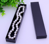 "100 Necklace Bracelet Pen Box Foam Insert 8.5x1.5x1"" Black"