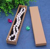 """Necklace Bracelet Pen Box (Foam Insert) 8.5x1.5x1"""" Kraft"""