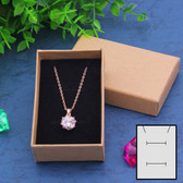 "100 Jewelry Box Foam Insert 3x2x1"" Kraft"