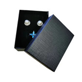 """Jewelry Box 3 1/8"""" x 2 3/8"""" x 1"""" (Foam Insert) Black Linen"""
