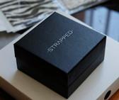"Custom Print Box 3 3/4""x3 3/4""x2"" Black Linen (Cotton-Filled)"