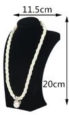 """Neck Bust Necklace Display 8""""H Black Velvet"""