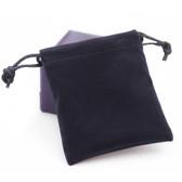 """100 Velvet Bag Gift Pouch 2 3/4"""" X 3 1/2"""" Black"""