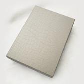 "12 Large Jewelry Box 6"" x 8.25"" x 1.5""H Silver Crocodile Print"