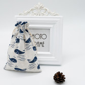 "25 Jewelry Gift Pouch 5x7"" Cotton Bags Whale"