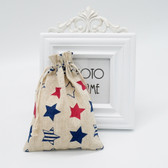 "25 Jewelry Gift Pouch 5x7"" Cotton Bags US Flag"