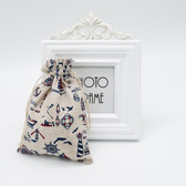 "25 Jewelry Gift Pouch 5x7"" Cotton Bags Sailing"